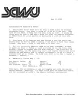 Administrative Director's Report - May 30, 1985