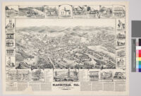 Bird's eye view of Placerville, Calif.