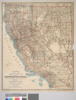 Weber's township and county map of the states of California and Nevada compiled from the latest data available