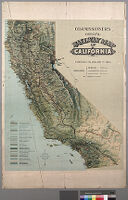 Commissioners official railway map of California, completed to January 1st, 1900