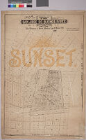 Map of the subdivision of Rancho San Jose de Buenos Ayres and the town of Sunset, owned by [the] Los Angeles & Santa Monica Land & Water Co.