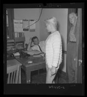 Barbara Payton at Hollywood Police Station, bruised and scarred, refuses to file complaint, 1962.