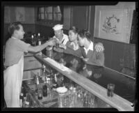 Sailors at a bar in Chinatown, 1942.