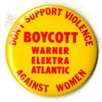Boycott Warner/Elektra/Atlantic - Pin