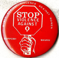 Stop Violence Against Women - Pin