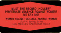 Must the Record Industry Perpetuate Violence Against Women?  - Sticker