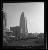 City Hall viewed from parking lot on Spring Street, 1938.