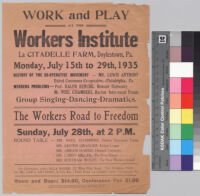 Work and Play at the Workers Institute : Ralph Bunche, speaker
