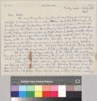 Letter, 1960 July 8, Leopoldville, Congo to Ralph Bunche, Jr.