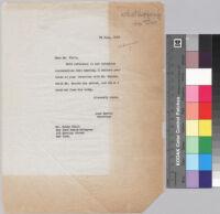 Letter, 1963 July 29, New York, N.Y. to Mr. Woody Klein, New York, N.Y.