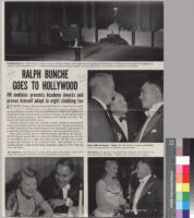 Ralph Bunche goes to Hollywood : U.N. mediator presents Academy Awards and proves himself adept at night clubbing too