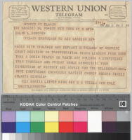 Telegram, 1957 January 8, Atlanta, Ga. to Ralph J. Bunche, New York, N.Y.