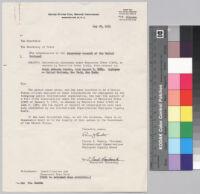 Letter, 1954 May 28, Washington D.C. to Secretary of State John Foster Dulles, Washington D.C.
