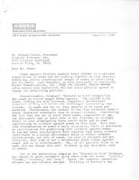 """Letter of Complaint to Filmways Regarding Film """"Dressed to Kill"""""""