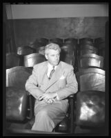 "Allan Smiley in Superior Court, fined with ""Bugsy"" Siegel for illegal betting, Los Angeles, 1944"