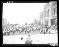 Students at May Day Peace Mass Meetings at UCLA, 1940.