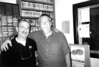 Kenny Davern and Mark Weber at studio KUNM, 2004 [descriptive]