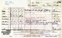 Jose Diaz's 8th grade report card