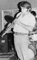 Vinny Golia playing clarinet, 1977 [descriptive]