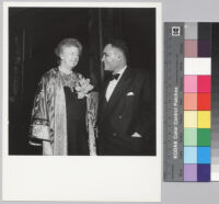 Ralph J. Bunche with Eleanor Roosevelt at award dinner at the Waldorf Astoria