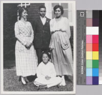 Ethel Johnson, Ralph J. Bunche, Alma Dreyfus Johnson, and Grace Bunche (seated)
