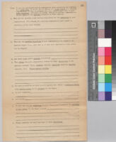 The Carnegie-Myrdal study questionnaire