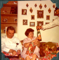 Grandpa and Grandma Perez on Christmas