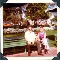 Mike, Kenny, Helen at Disneyland