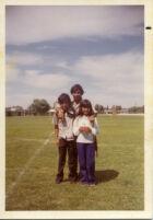 Kids posing at school yard