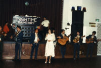 Raquel singing with mariachi