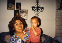 Raquel with grandchild