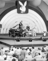Benny Goodman playing at the Playboy Jazz Festival at the Hollywood Bowl, circa 1979? [descriptive]