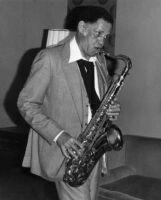 Dexter Gordon playing the saxophone in Claremont, California, 1979 [descriptive]