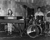 Joanne Grauer on keyboards, 1980 [descriptive]
