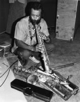 Billy Harris playing soprano saxophone, 1980 [descriptive]
