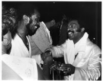 Roy Haynes and Clarence Johnston at the Hollywood Bowl, 1980 [descriptive]