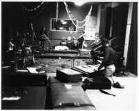 John Heard during Nimbus recording session on Sunset Blvd. in Los Angeles, California [descriptive]