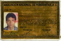 Delfino's National Association of Journalist card