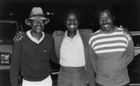 Bobby Brooks, Clarence Johnston and Harold Howard at the Hollywood Bowl, 1983 [descriptive]