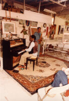 George Cables playing the piano in 1980 [descriptive]
