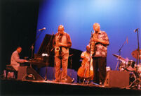 George Cables, Henry Franklin, Sonny Fortune, and Frank Morgan at the KiMo Theatre in Albuquerque, 2003 [descriptive]