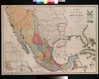 Mapa de los Estados Unidos de Mejico, segun lo organizado y definido por las varias actas del Congreso de dicha republica : y construido por las mejores autoridades