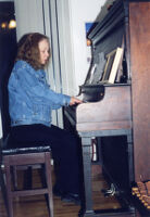 American pianist Connie Crothers playing piano, 2001 [descriptive]