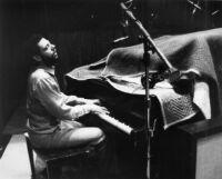 Robert Crowley playing piano at United Western Recorders, Los Angeles, 1981 [descriptive]