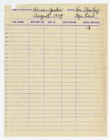 Invoice for House & Garden magazine, 1949