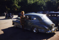 Nancy in front of lowrider