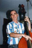 Dave (David) Parlato playing double bass in Albuquerque, New Mexico, 1996 [descriptive]