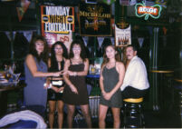 Nancy and friends at bar