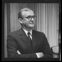 Jesse Dukeminier, UCLA Law professor, at press conference for his proposal to create statute to routinize organ removal from dying patients, 1968.