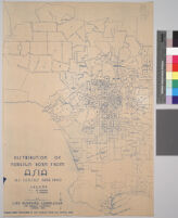 Maps showing distribution of racial and national groups in the Los Angeles area, according to the 1940 United States census: Distribution of foreign born from Asia, U.S. Census data, 1940